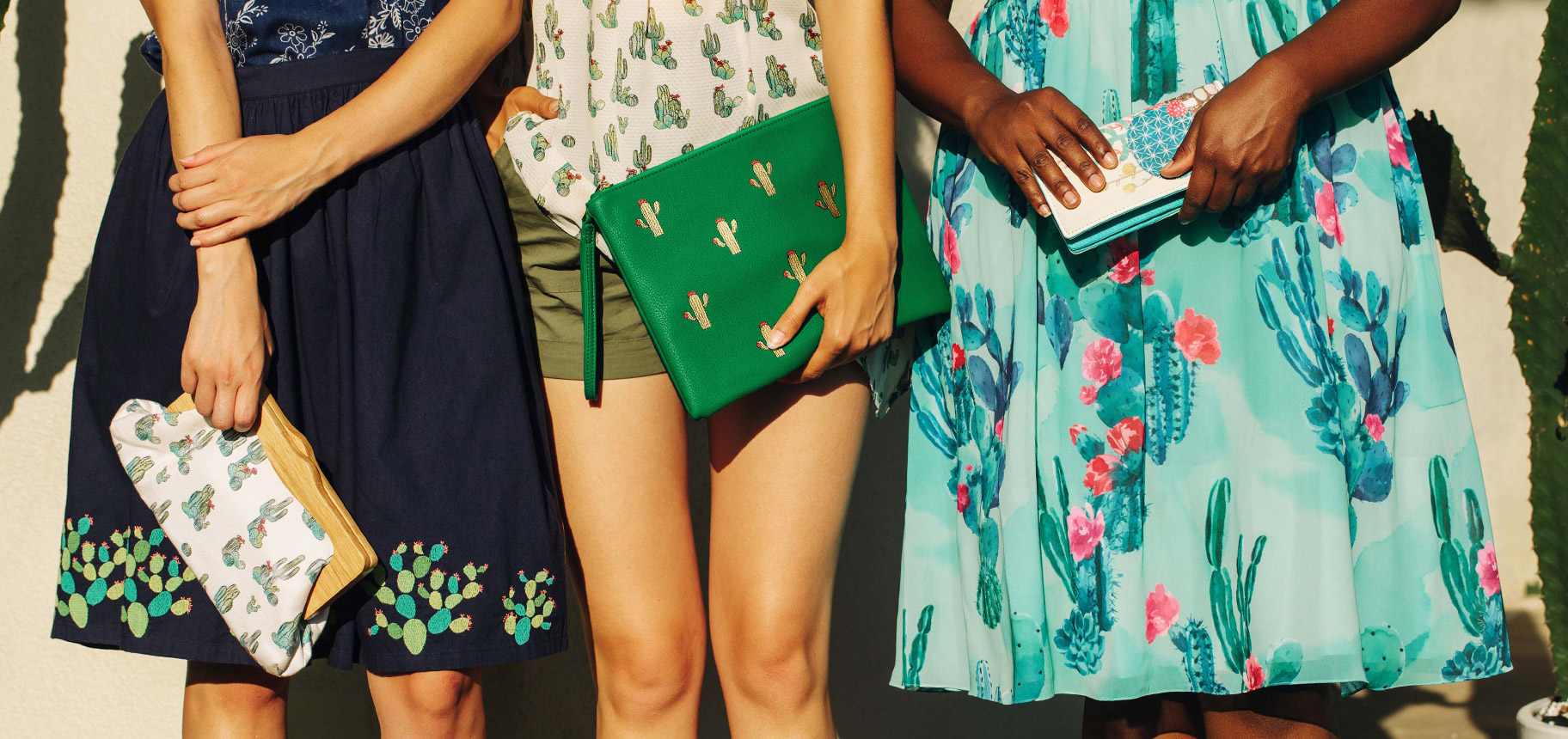 'Sol' Mates. Embrace summer style with an ethereal entourage of balmy prints, statement patterns, & exclusive pieces that are anything but ordinary.