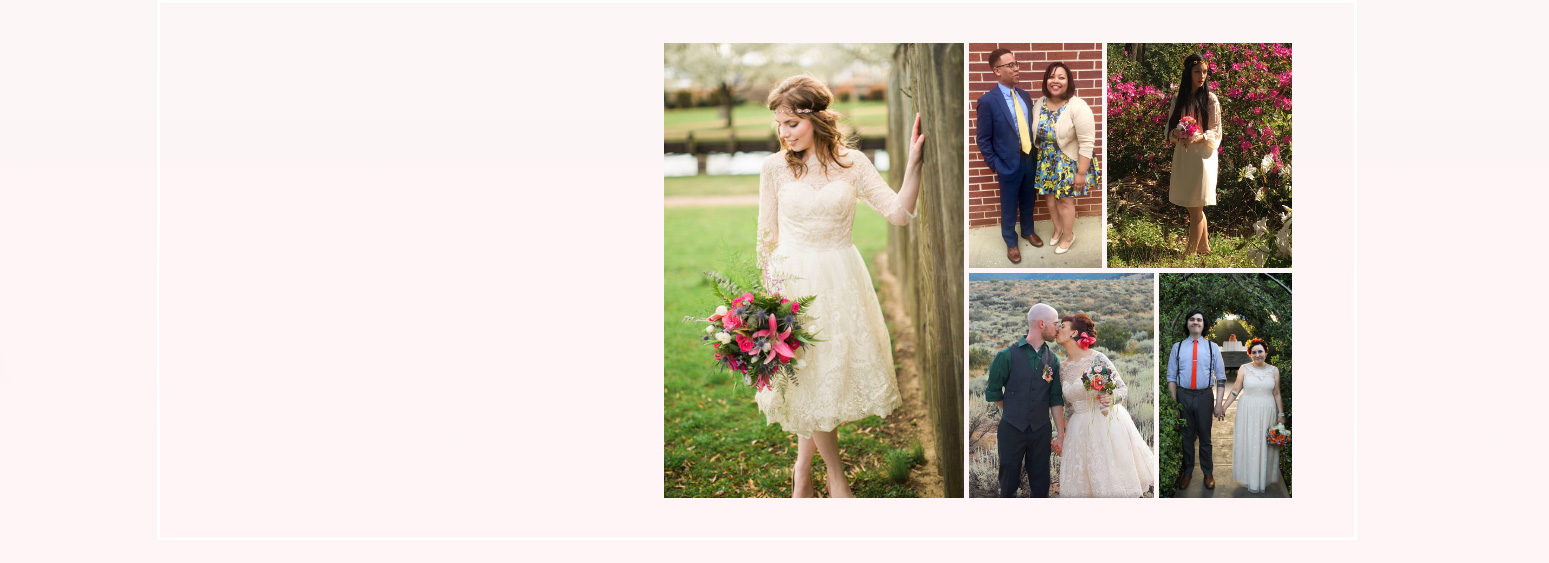 Modcloth community wedding photos from our stylegallery