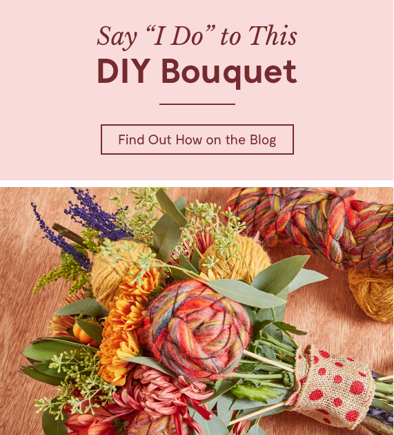Say 'I Do' to This DIY Bouquet.  Find Out How on the Blog.