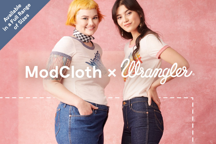 ModCloth x Wrangler. What do you get when you mash up the American heritage of Wrangler denim with ModCloth's unique style? A match made in 'denim,' & a 70's-inspired capsule collection full of current-day character.